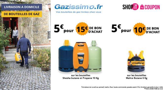 bon d achat gazissimo livraison de bouteilles de gaz 5 le bon de 15. Black Bedroom Furniture Sets. Home Design Ideas