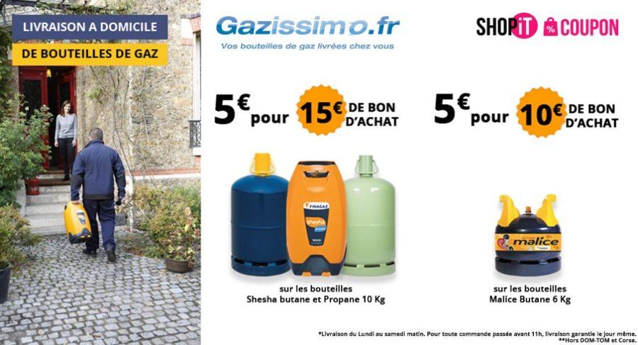 bon d achat gazissimo livraison de bouteilles de gaz 5. Black Bedroom Furniture Sets. Home Design Ideas