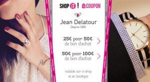 Bon d'achat Jean Delatour à moitié prix