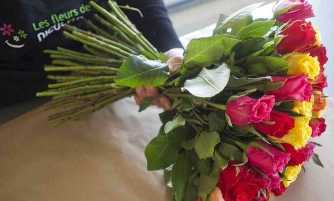 Bouquet de roses pas cher 25 euros le bouquet de 60 roses for Livraison fleurs pas cher 10 euros