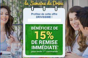 Carrefour Drive : 15% de remise