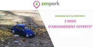 Parkings partagés Zenpark 2 mois gratuit