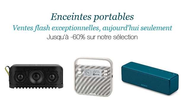 Ventes Flash enceintes portables sur Amazon
