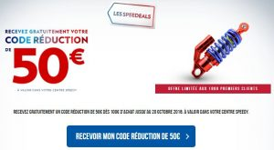 code réduction SPEEDY de 50€ dès 100€ d'achat