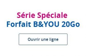 série spéciale B&You 20Go