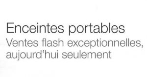 vente flash d'enceintes sur Amazon