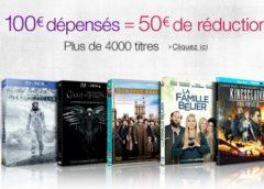 Bon plan Blu-Ray / DVD : 100€ d'achats = 50€ de remises immédiates