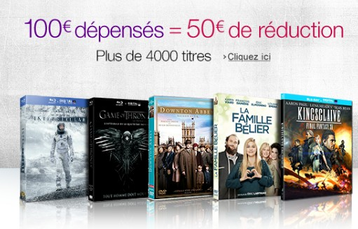 100 euros de films pour 50 euros