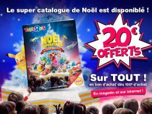 20€ offerts dès 100€ d'achats sur Toys'R US