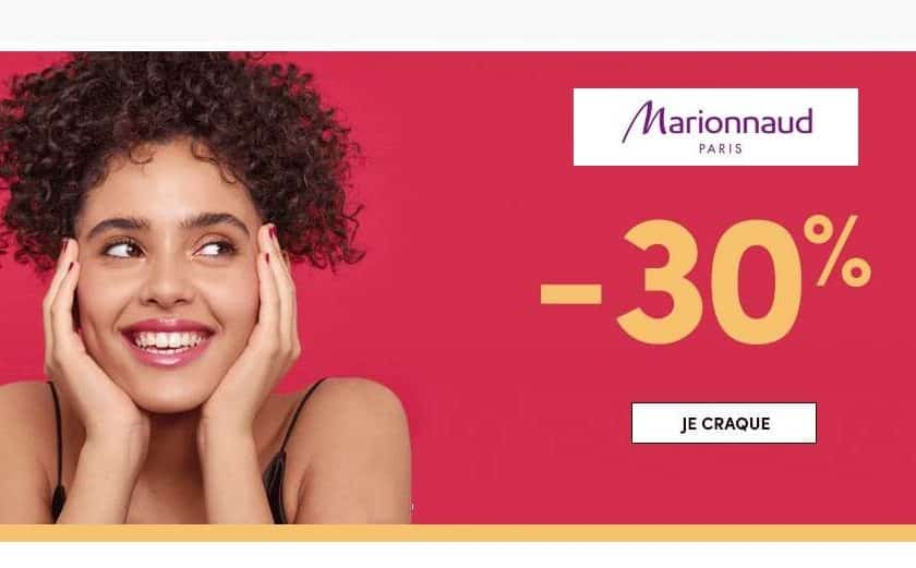 30% de remises sur Marionnaud sans minimum