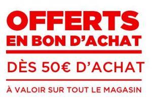50€ d'achats chez Géant Casino = 1 bon d'achat de 5€