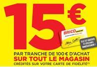 Anniversaire Bricomarché : 15€ offerts