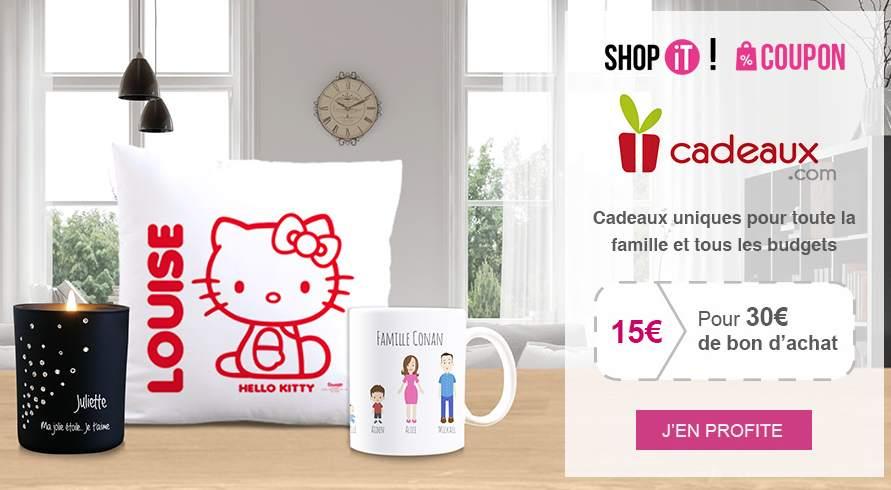 Bon d'achat Cadeau .com à moitié prix