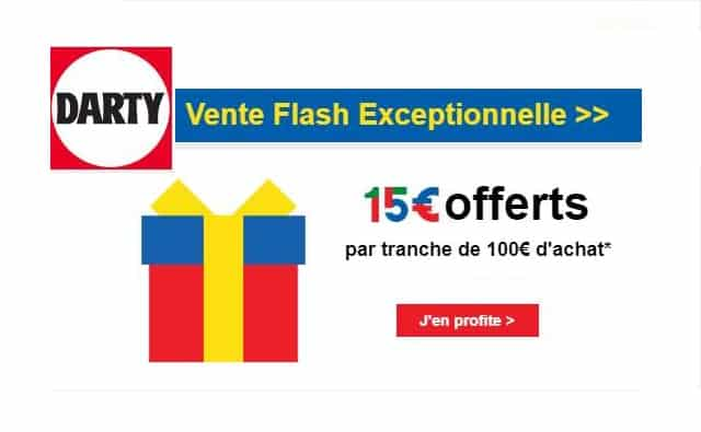 Bon plan Darty 15€ offerts par tranche de 100€
