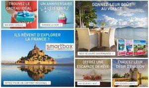 Bon plan coffret cadeau : 15% de remise sur tout SmartBox