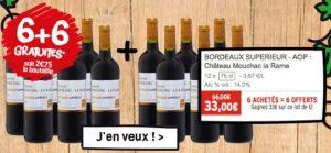 Foire aux vins ChronoDrive 33€ les12 Bordeaux supérieur