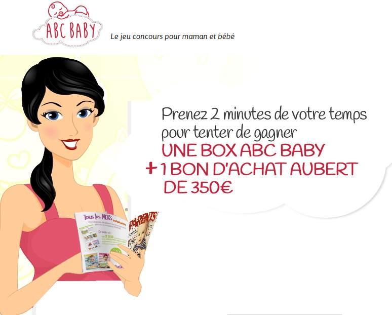 Gagnez une Box ABC BABY et chèque cadeau Aubert