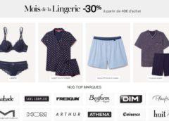 30% de remise sur la Lingerie (code promo Amazon, dès 40€)