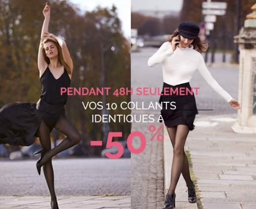 Promo collants DIM 10 collants moitié prix