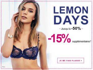 Remise en plus sur la lingerie en promo du Lemon Days