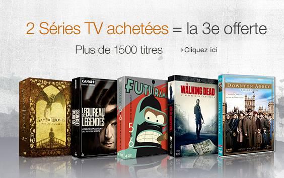 Séries TV : 2 achetées = 1 gratuite