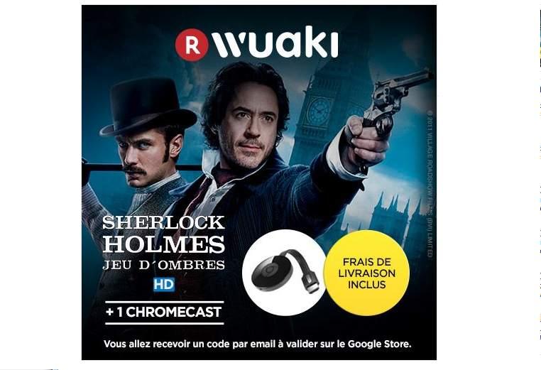 Sherlock Holmes + Chromecast 2 à moins de 21€