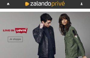 Vente privée sur les jeans Levis et autres vêtements- Zalando Privé