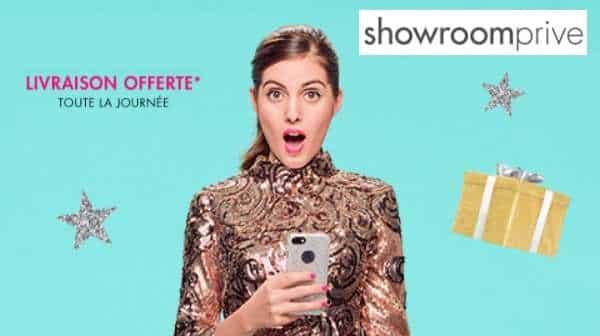 code promo livraison gratuite Showroomprive
