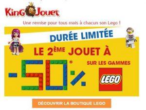 1 Lego acheté = le second à -50%