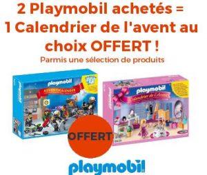 2 boites de Playmobil achetés = 1 calendrier de l'Avent Playmobil gratuit