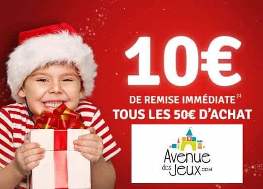 10€ de remise immédiate sur Avenue des Jeux