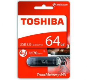 14,8€ la clé USB Toshiba 64Go 3.0 TransMemory