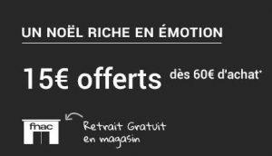 15€ offert sur Fnac Photo dès 60€
