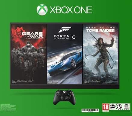 199€ la console Xbox One 1 To + 1 jeu