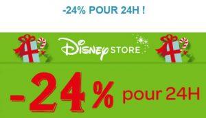 24% de remise sur Disney Store