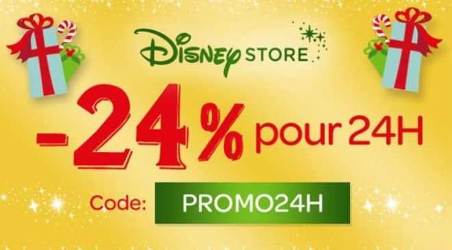 -24% pour 24h sur Disney Store