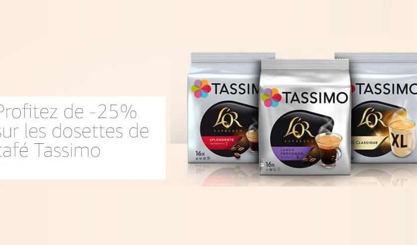 25% de remise sur toute la gamme de capsules Tassimo