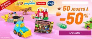 50 jeux / jouets à -50% sur Auchan