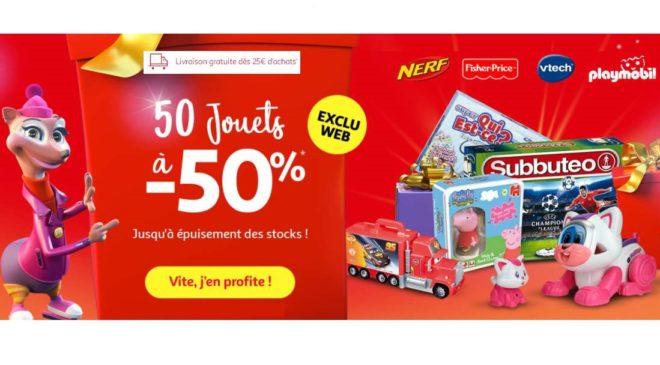 50 jouets à -50% sur Auchan