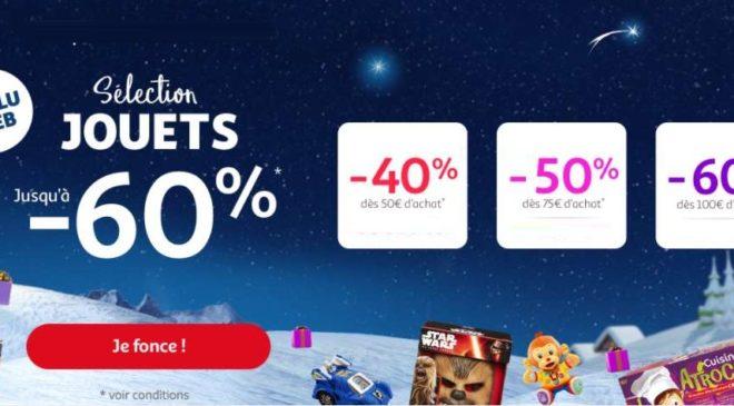 60% de remise immédiate sur les jouets & jeux sur Auchan