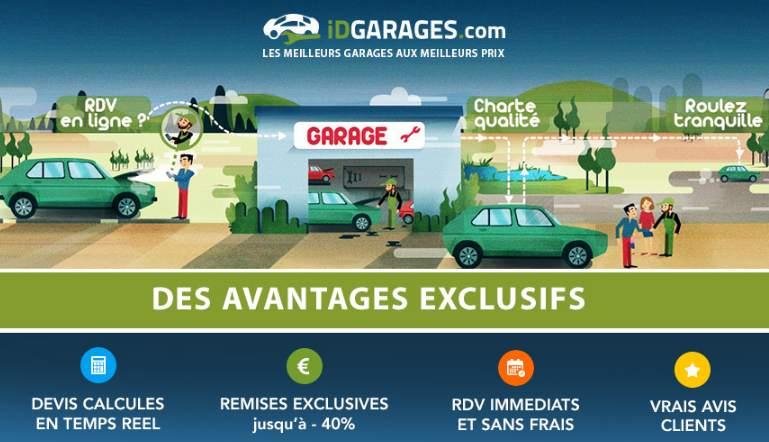 Bon d'achat valable dans 2000 garages iDGARAGES