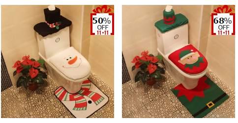D coration de noel pour toilette moins de 7 70 port inclus - Decoration de noel pas chere ...