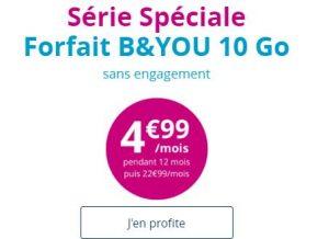 Forfait B&You 10 Go 4,99€