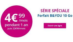 Forfait B&You 10 Go pas cher