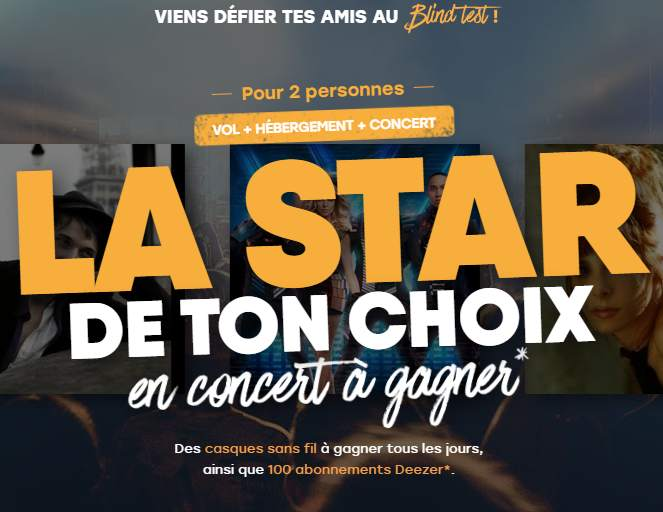 Gagnez 2 places de concert (+ hôtel et voyage)