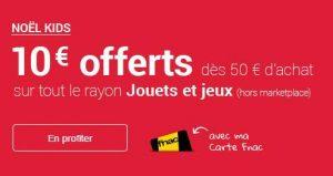 Jouets & jeux FNAC : 10€ offerts