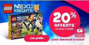 20% offert sur les Lego Nexo Knights sur Toys'R US