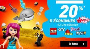 Lego moins chers car 20% crédité sur la carte Auchan