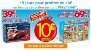 Offre Playmobil King Jouet: 10€ offerts