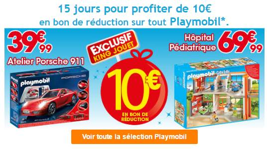 offre playmobil king jouet 10 offerts d s 50 d achat. Black Bedroom Furniture Sets. Home Design Ideas